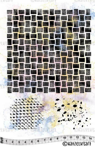Katzelkraft: Background Rectangles A5 - unmounted leimasinsetti