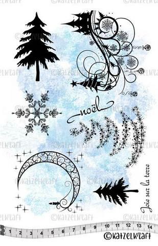 Katzelkraft: Christmas A5 - unmounted leimasinsetti