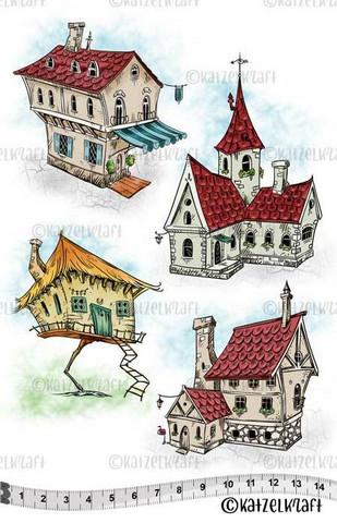 Katzelkraft: Houses A5 - unmounted leimasinsetti