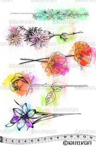 Katzelkraft: Flowers A5 - unmounted leimasinsetti