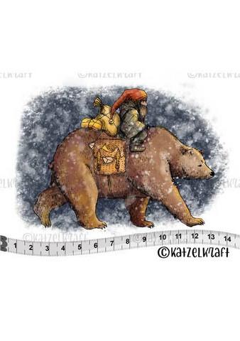 Katzelkraft: Veera Aro Bear & Gnome  - unmounted leimasin