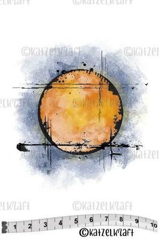 Katzelkraft: Grunge Circle - unmounted leimasin