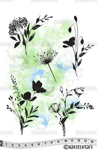 Katzelkraft: Les Fleurs Sauvages - Wild Flowers  A5 - unmounted leimasinsetti