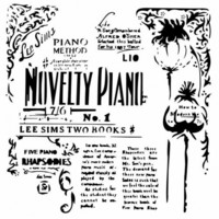 13arts: Novelty Piano 6 x 6 -sabluuna