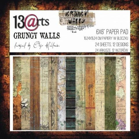 13arts: Grungy Walls 6x6 - paperikokoelma