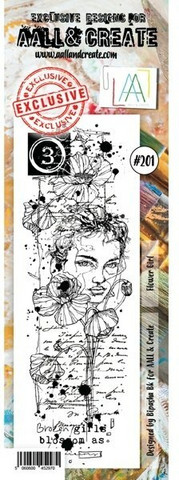 Aall & Create: Flower Girl #201 - leimasin