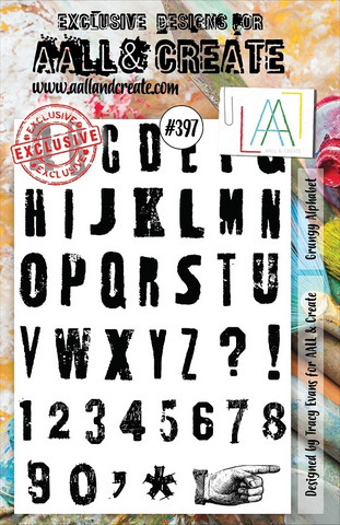 Aall & Create : Grungy Alphabet #397 - leimasinsetti