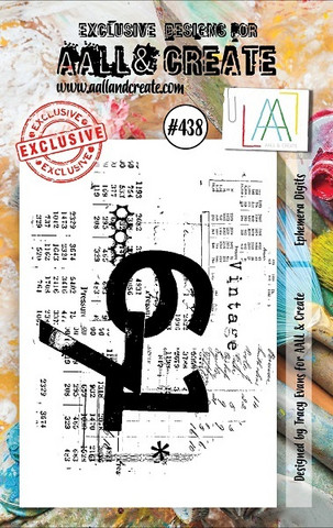 Aall & Create: Ephemera Digits  #438 - leimasinsetti