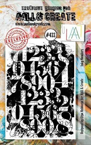 Aall & Create: Inky Numbers  #433 - leimasinsetti