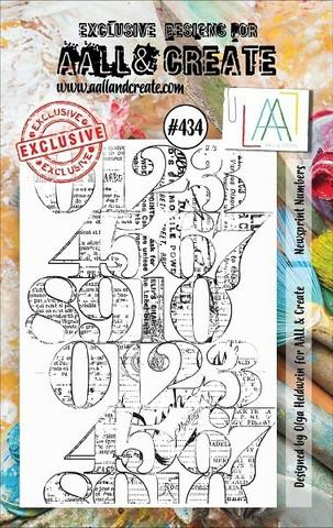 Aall & Create: Newsprint Numbers  #434 - leimasinsetti