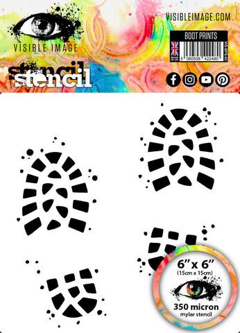 Visible Image: Boot Prints  6x6 - sabluuna