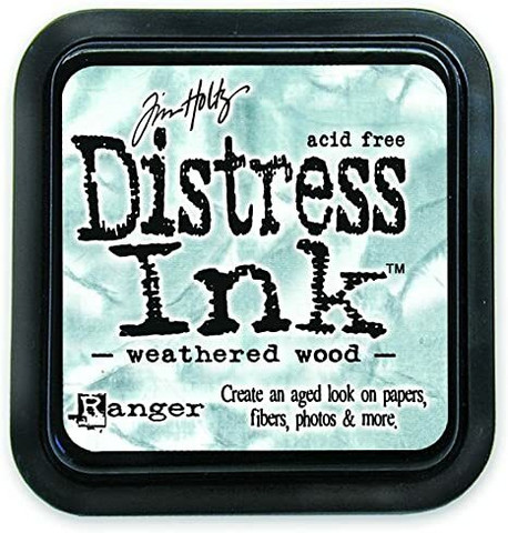 Distress Ink: Weathered Wood -mustetyyny