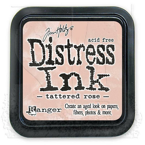 Distress Ink: Tattered Rose -mustetyyny