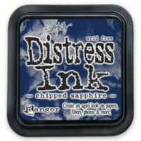 Distress Ink: Chipped Sapphire -mustetyyny