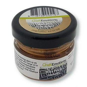 Craft Emotions Wax Paste: Metallic Bronze 30 ml - metallivaha