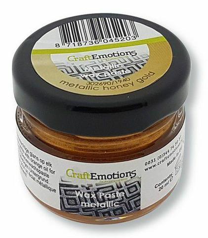 Craft Emotions Wax Paste: Metallic Honey Gold 30 ml - metallivaha