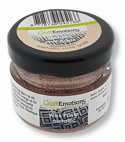 Craft Emotions Wax Paste: Metallic Rose Gold 30 ml - metallivaha