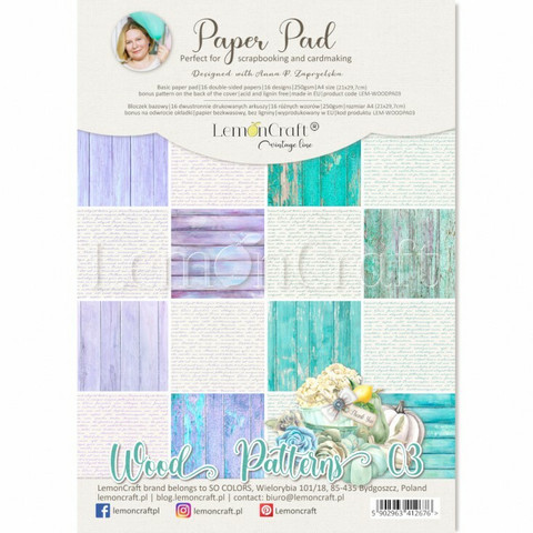 Lemoncraft: Wood Patterns #3 A4  -paperilehtiö
