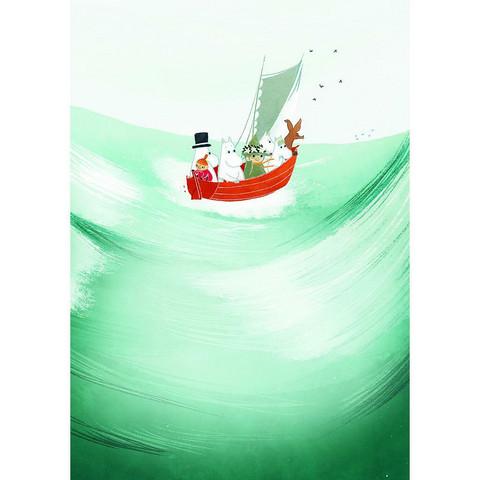 Karto: Muumi - Meidän meri A5 - vihko