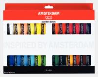 Amsterdam iso akryylivärilajitelma  24 väriä / 20ml