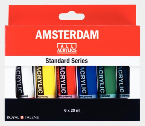 Amsterdam pieni akryylivärilajitelma  6väriä / 20ml