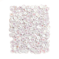 DP Craft Sequins - Opalescent White 9mm/ 15 g