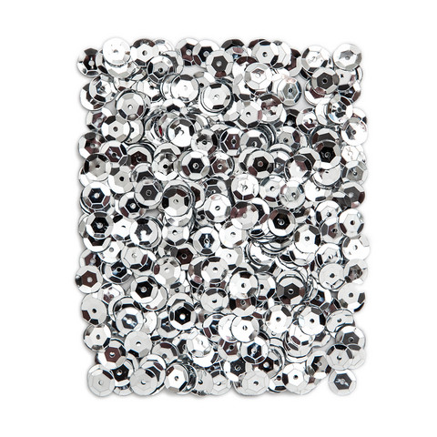 DP Craft Sequins - Metallic Silver 9mm/ 15 g