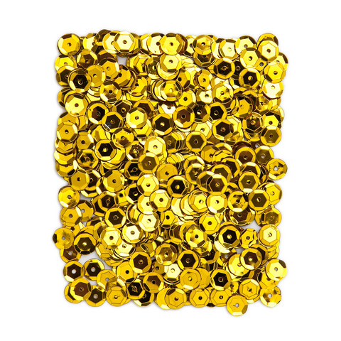 DP Craft Sequins - Metallic Gold 9mm/ 15 g