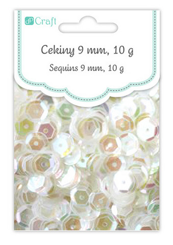 DP Craft Sequins - Opalescent Clear 9mm/ 10 g