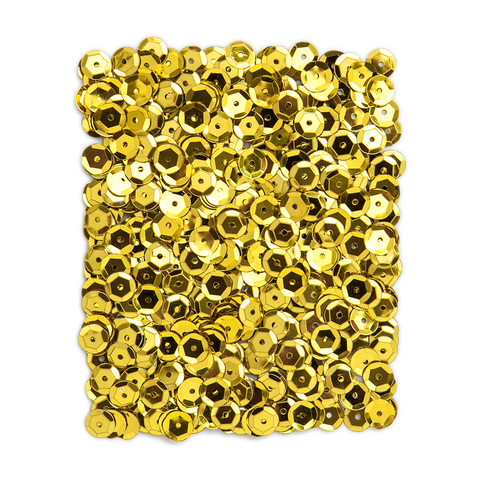 DP Craft Sequins - Metallic Yellow Gold 9mm/ 15 g