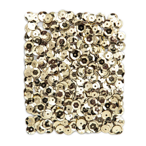 DP Craft Sequins - Metallic Light Gold 9mm/ 15 g