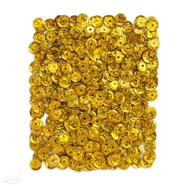 DP Craft Sequins - Holographic Dark Gold 9mm/ 15 g