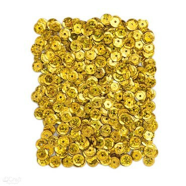 DP Craft Sequins - Holographic Gold 9mm/ 15 g