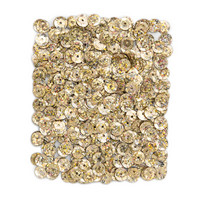 DP Craft Sequins - Holographic Light Gold 9mm/ 15 g