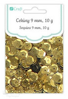 DP Craft Sequins - Pale Gold 9mm/ 10 g