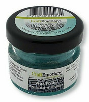 Craft Emotions Wax Paste: Colored Metallic Turquoise 30 ml - metallivaha