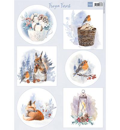 MD: Frozen Forest - korttikuva-arkki A4