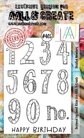 Aall & Create: Doodled Numbers #405 - leimasinsetti