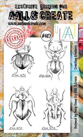 Aall & Create: Crawling Creatures #402 - leimasinsetti + yhteensopivat stanssit