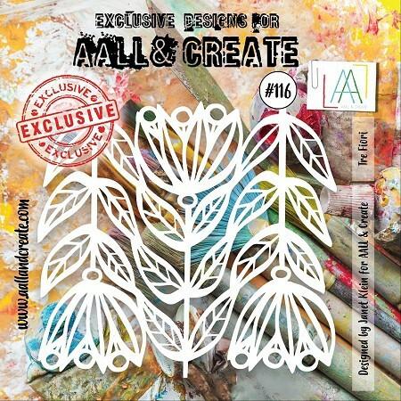Aall & Create STENCIL Tre Fiori #116 - sabluuna