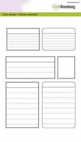 Craft Emotions: Planner Esentials  - Frames A5 - kirkas leimasinsetti