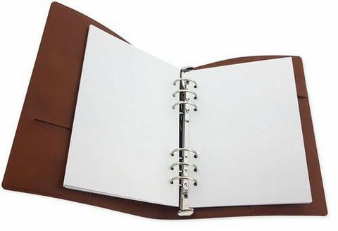 Craft Emotions: Ringbound PU Leather Planner A5 Cognac Brown - rengasplanneri/TN hybridi