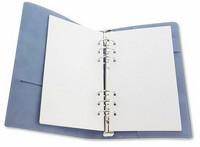 Craft Emotions: Ringbound PU Leather Planner Slim 12 x 21cm Light Blue - rengasplanneri/TN hybridi