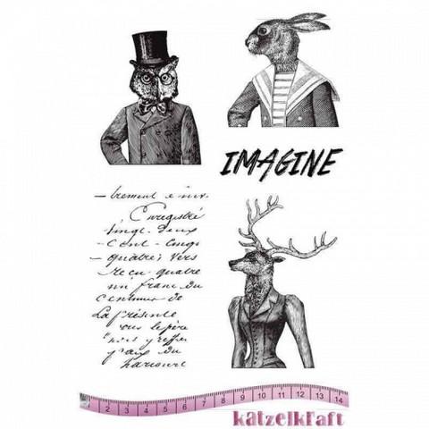 Katzelkraft: Les Anthropomorphes Rabbit A5 - unmounted leimasinsetti