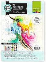 Vaessen Creative: Florence Smooth 300gsm akvarellipaperipakkaus A4 / 100 arkkia