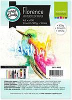 Vaessen Creative: Florence Smooth 300gsm akvarellipaperipakkaus A5 / 100 arkkia
