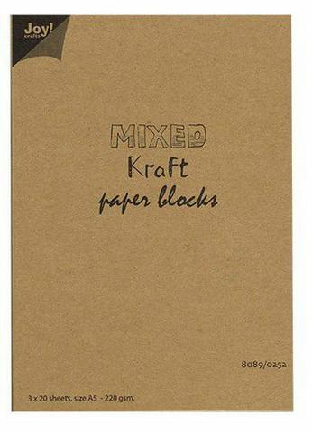 Joy Crafts: Mixed Kraft Paper Block A5 - kartonkipakkaus