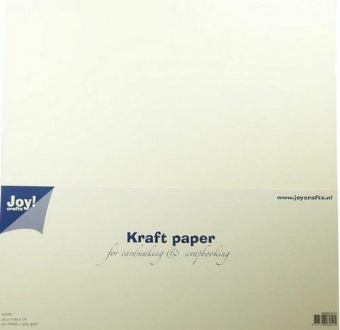 Joy Crafts: White Craft 12x12 kartonkipakkaus