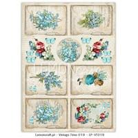 Lemoncraft: Vintage Time 19 - korttikuva-arkki A4