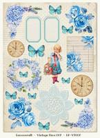 Lemoncraft: Vintage Time 7- korttikuva-arkki A4